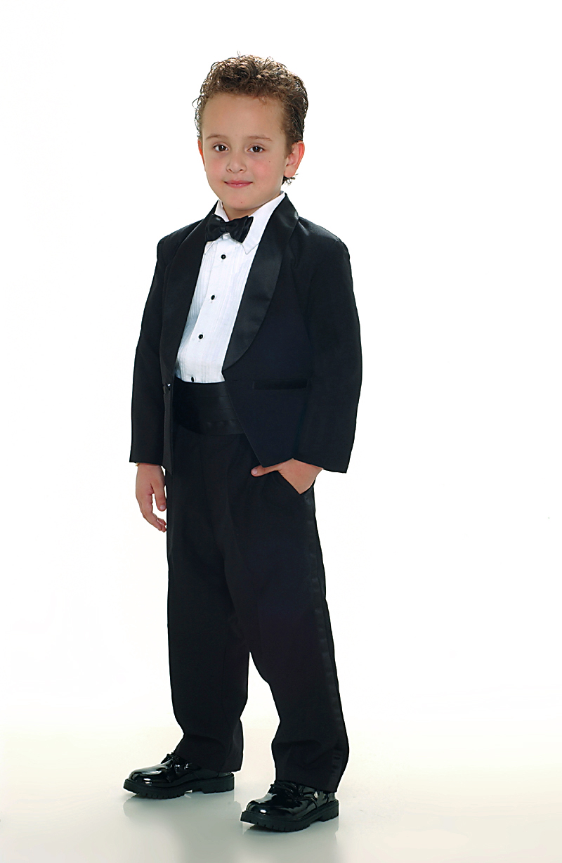 Tt 4002b Boys Suit Style Tuxedo Black Color Boys First