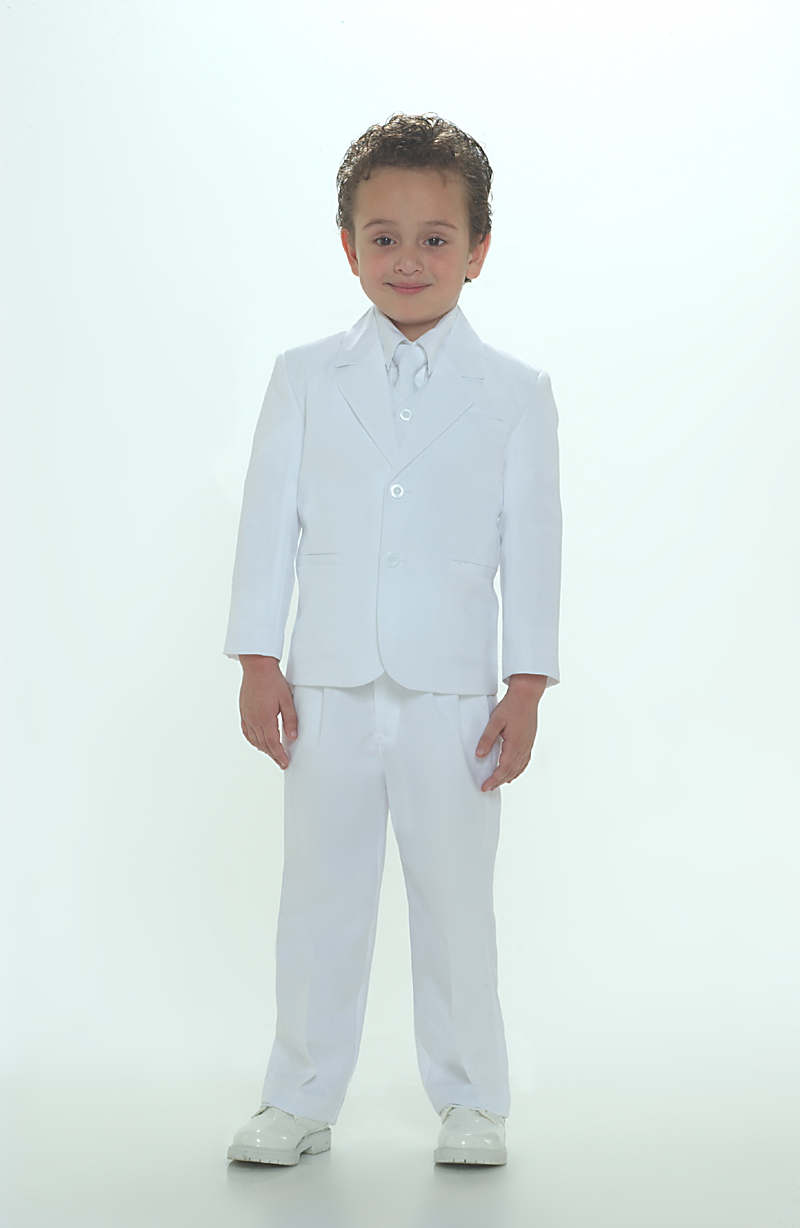 TT_4005W - Boys 5 piece Suit 2 Button Style 4005- WHITE COLOR - Boys ...