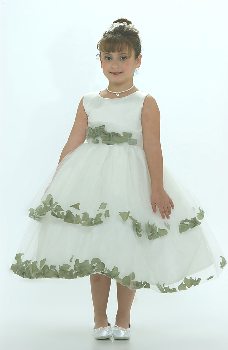 Tt 5251g Flower Girl Dress 5251 Ivory Sleeveless Double