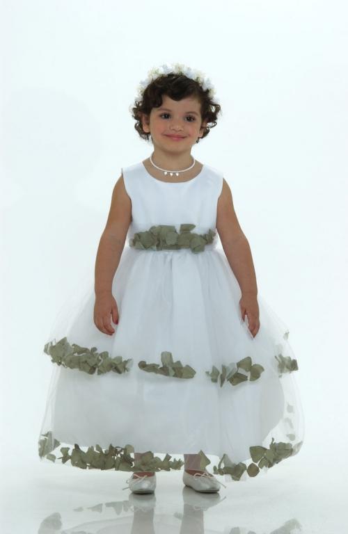 Tt5251wg flower girl dress 5251 white sleeveless double layer flower girl dress 5251 white sleeveless double layer satin and tulle with sage green petal mightylinksfo