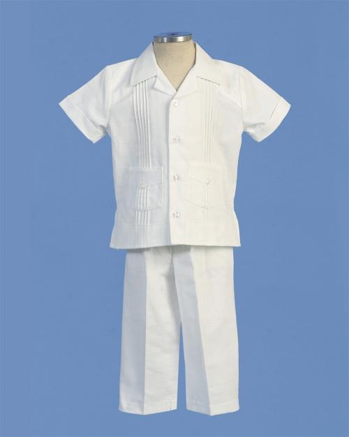 AG_BG445 - Boys Baptism and Christening Outfit BG445- Linen Short ...