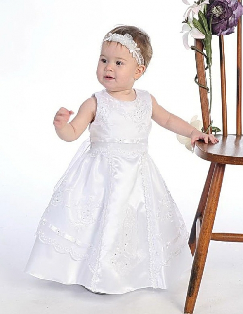 AG_DR354 - Girls Baptism and Christening Dress Style DR354-Organza ...