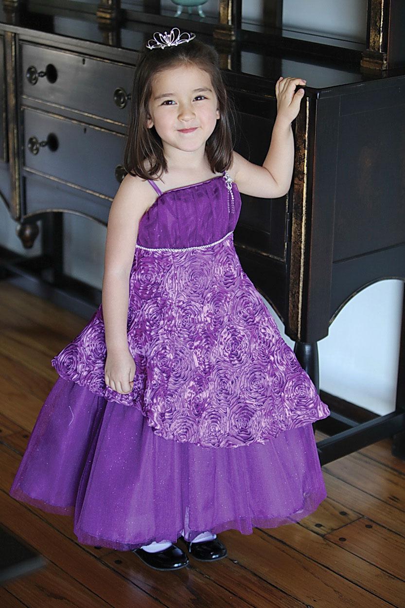 Ag Dr597pur Flower Girl Dress Style Dr597 Taffeta