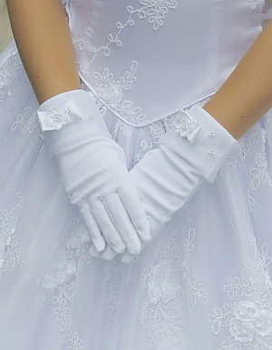 Girls White Gloves