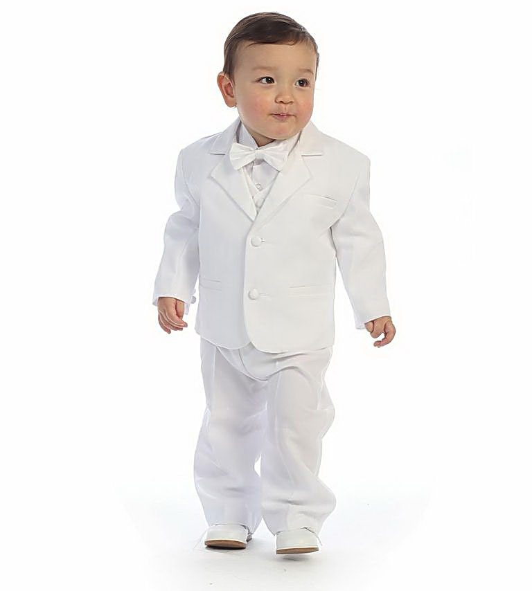 Boys Suit Style Tx110- 5 Piece Tuxedo Set With Bow Tie And Vest TX110