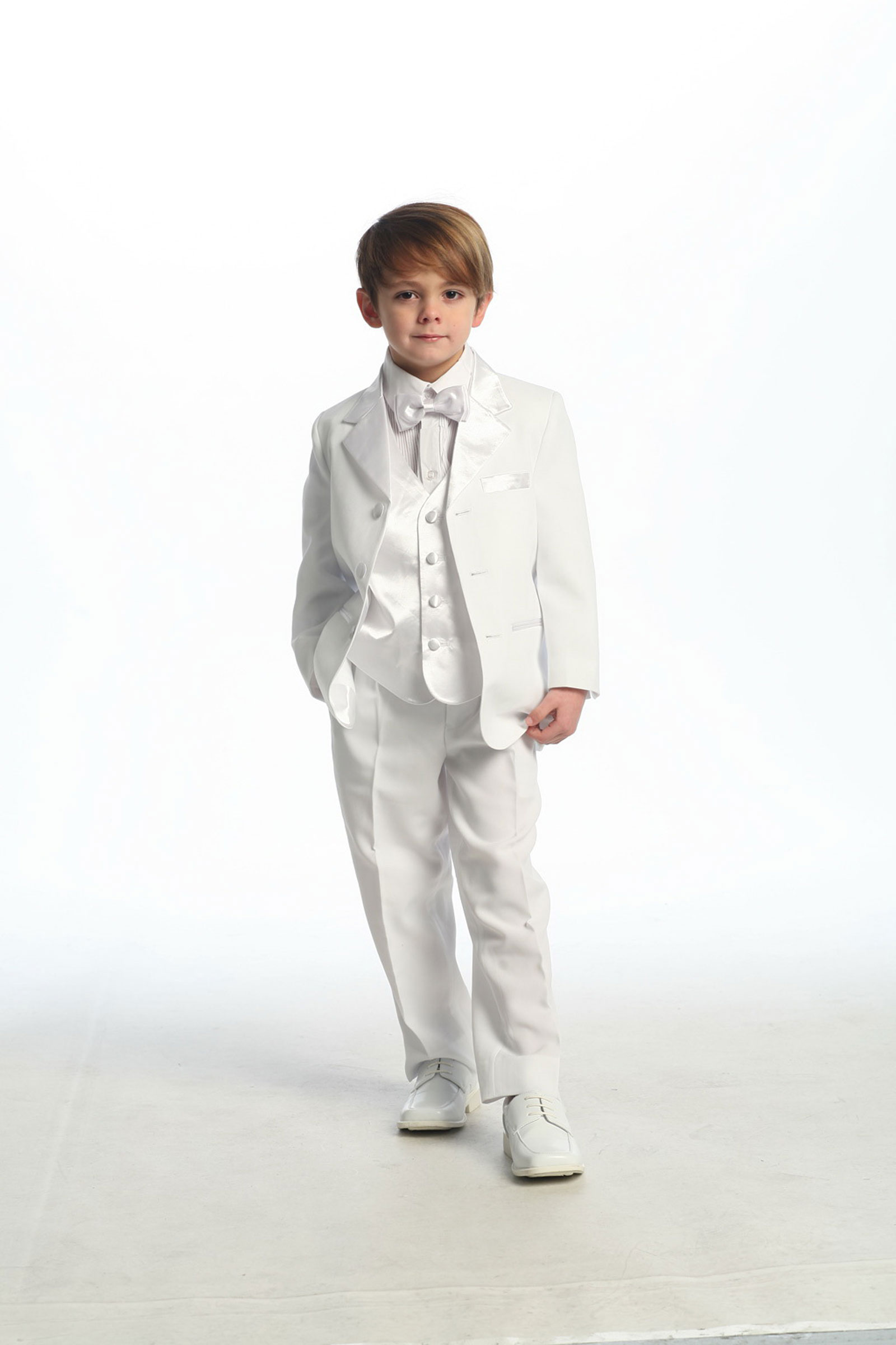 Ca 4003w Boys Suit Style 4003 5 Piece Tuxedo Set Boys First Holy Communion Suits Flower