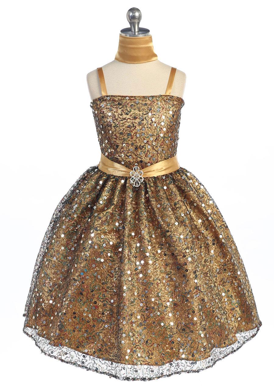 Girls Silver Dresses