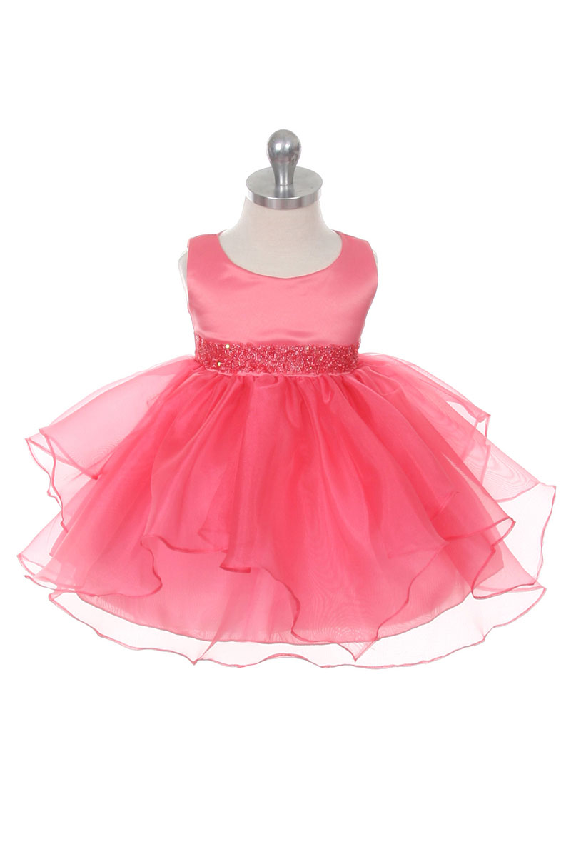 Cb 0302cob Girls Dress Style 0302 Coral Sleeveless