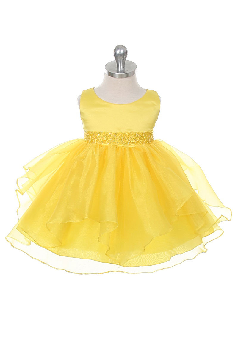 Cb 0302yb Girls Dress Style 0302 Yellow Sleeveless