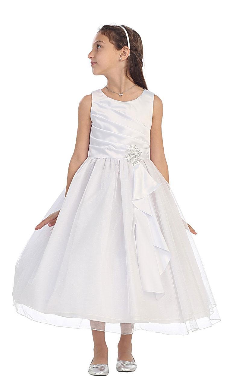 Cb 0303 14 Girls Dress Style 0303 Satin Tulle