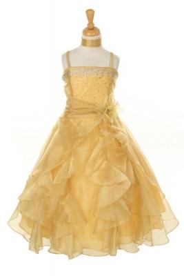 Gold - Flower Girl Dresses - Flower Girl Dress For Less