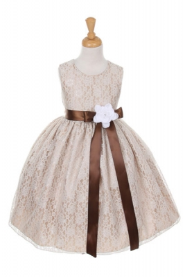 Taupes and Champagnes - Flower Girl Dresses - Flower Girl Dress ...