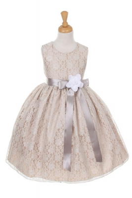 White silver dress for girls