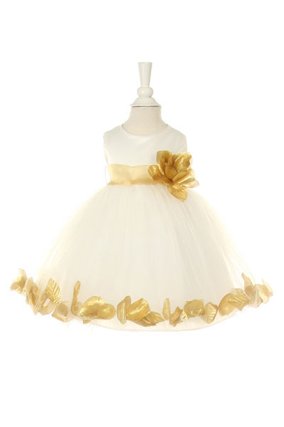 Cc1170gd girls dress style 1170 choice of white or ivory dress girls dress style 1170 choice of white or ivory dress with gold accents mightylinksfo