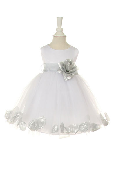 Cc1170sv Girls Dress Style 1170 Choice Of White Or Ivory Dress