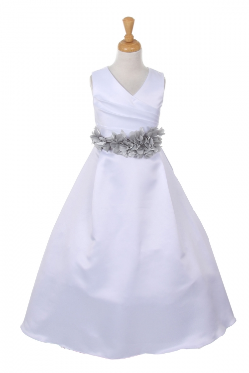 Cc1186wsv girls dress style 1186 choice of white or ivory dress girls dress style 1186 choice of white or ivory dress with silver flower sash mightylinksfo