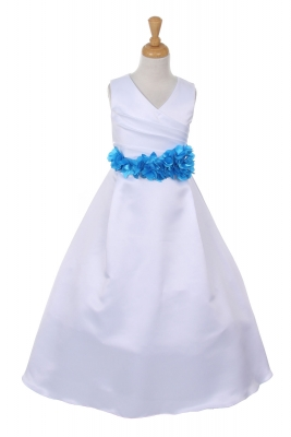 Light Blue - Flower Girl Dresses - Flower Girl Dress For Less