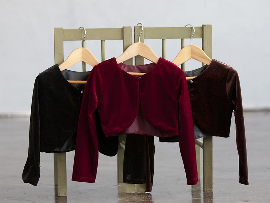 CK_825 - Girls Long Sleeve Velvet Jacket- In Choice of Color