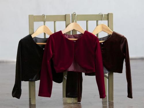 CK_825 - Girls Long Sleeve Velvet Jacket- In Choice of Color ...