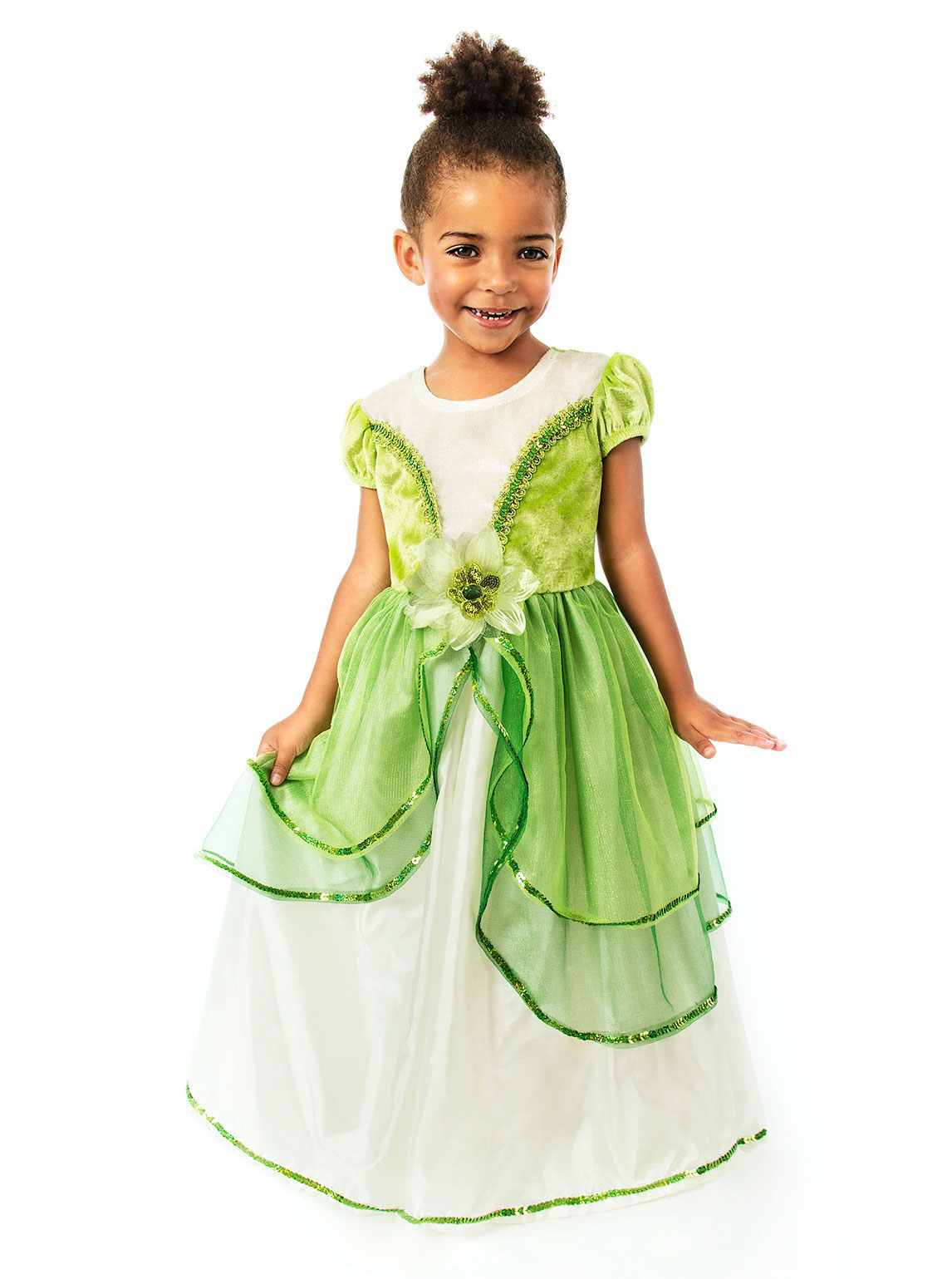 Girls Costume Style Lily Pad Princess Flower