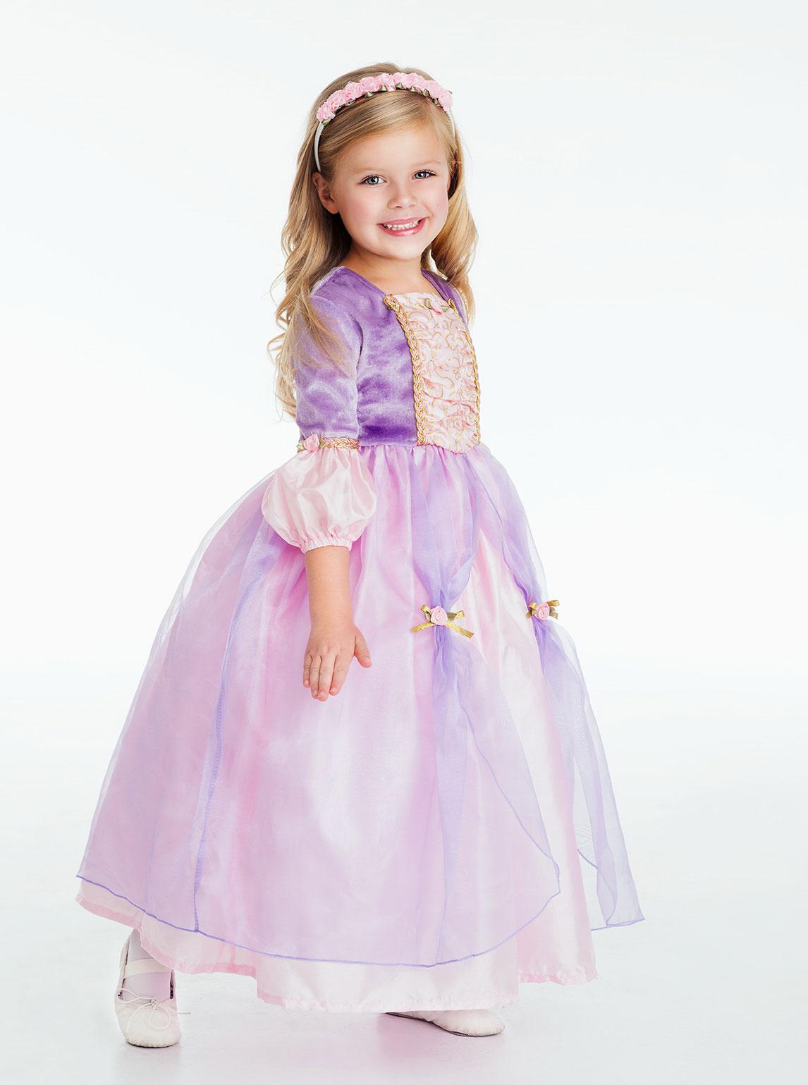 LA Girls Costume Style Rapunzel Princess Dress Up Dresses