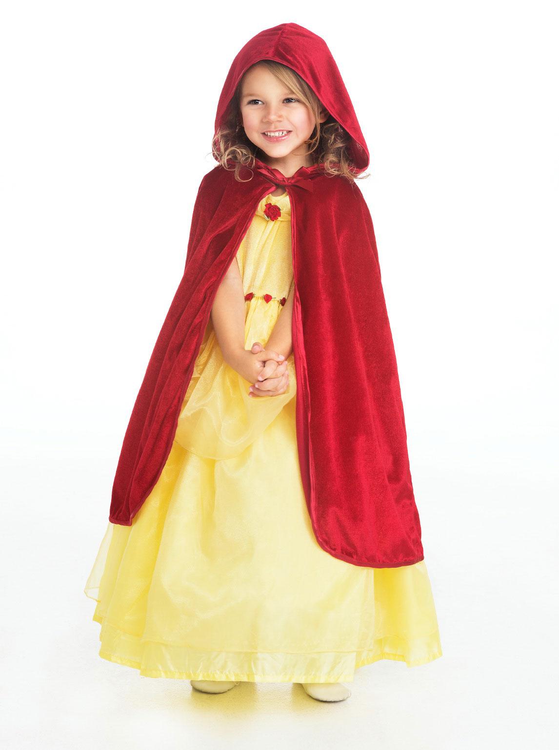 LA Girls Cloak Style Red Hooded Cloak Dress Up Capes Flow