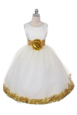 Gold - Flower Girl Dresses - Flower Girl Dress For Less
