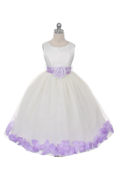 Mb152ivl Flower Girl Dress Style 152 Choice Of White Or Ivory