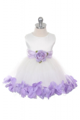 Purple flower girl dresses flower girl dress for less purple flower girl dress style 152 choice of white or ivory dress with lilac sash and mightylinksfo Choice Image