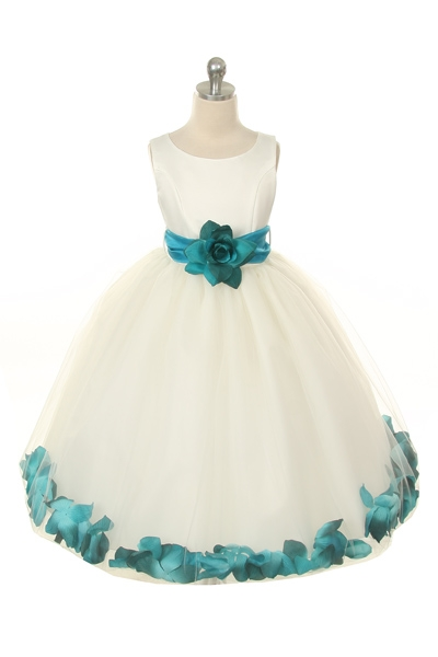 Mb 152ivtl Flower Girl Dress Style 152 Choice Of White