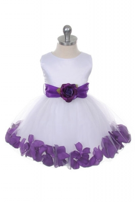 Purple flower girl dresses flower girl dress for less flower girl dress style 152 choice of white or ivory dress with purple sash and mightylinksfo