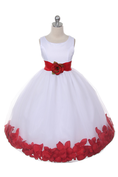 Mb 152wr Flower Girl Dress Style 152 Choice Of White Or
