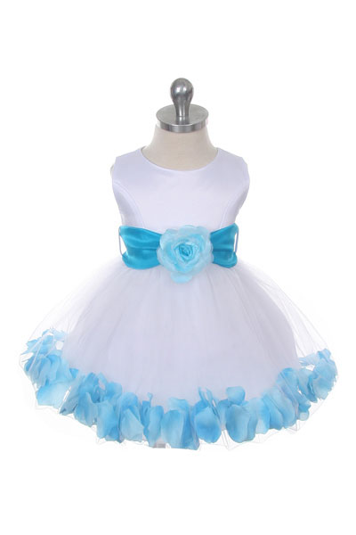 Mb152wturb flower girl dress style 152 choice of white or ivory flower girl dress style 152 choice of white or ivory dress with turquoise sash and mightylinksfo