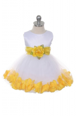 Yellows flower girl dresses flower girl dress for less flower girl dress style 152 choice of white or ivory dress with yellow sash and mightylinksfo