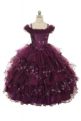 Plum - Flower Girl Dress For Less