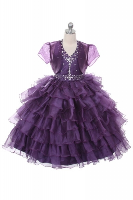 Purple flower girl dresses flower girl dress for less purple girls dress stile 1024 plum organza dress with sequin bodice and matching bolero mightylinksfo Choice Image