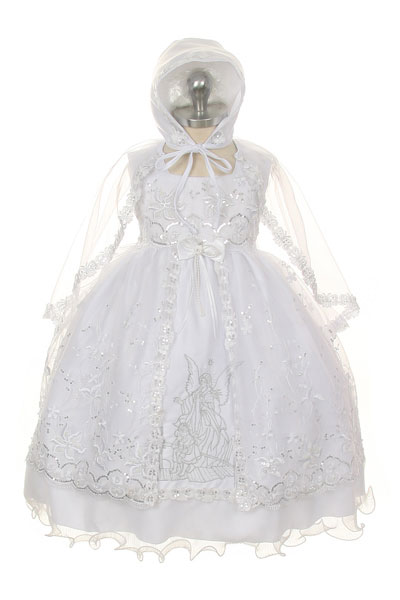 6f7d2651b167 RK 381 - Girls Dress Style 381- WHITE Baptism and Christening Dress ...