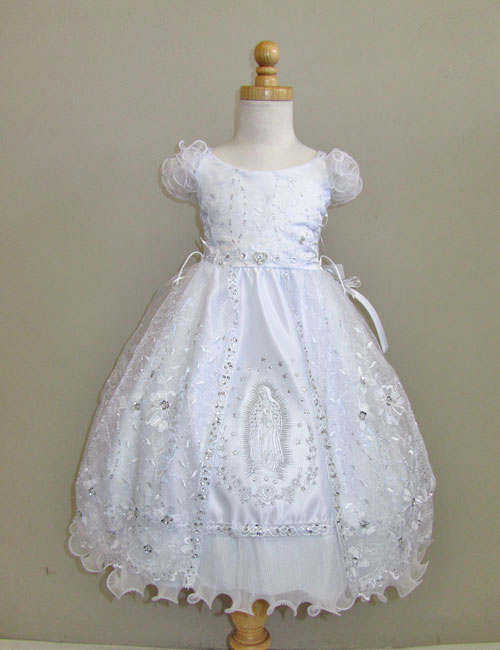 Rk 386 Girls Dress Style 386 White Baptism And