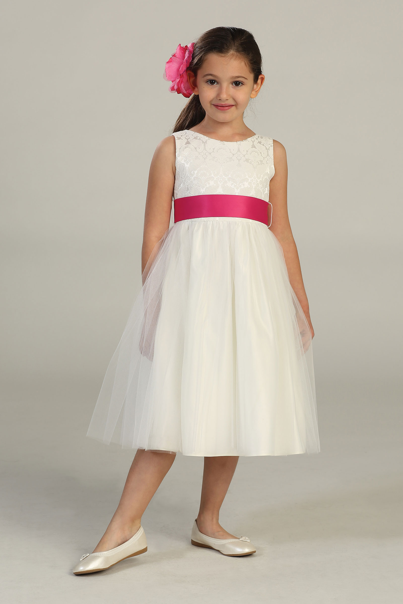 Sk 394 Girls Dress Style 394 Off White Build Your Own