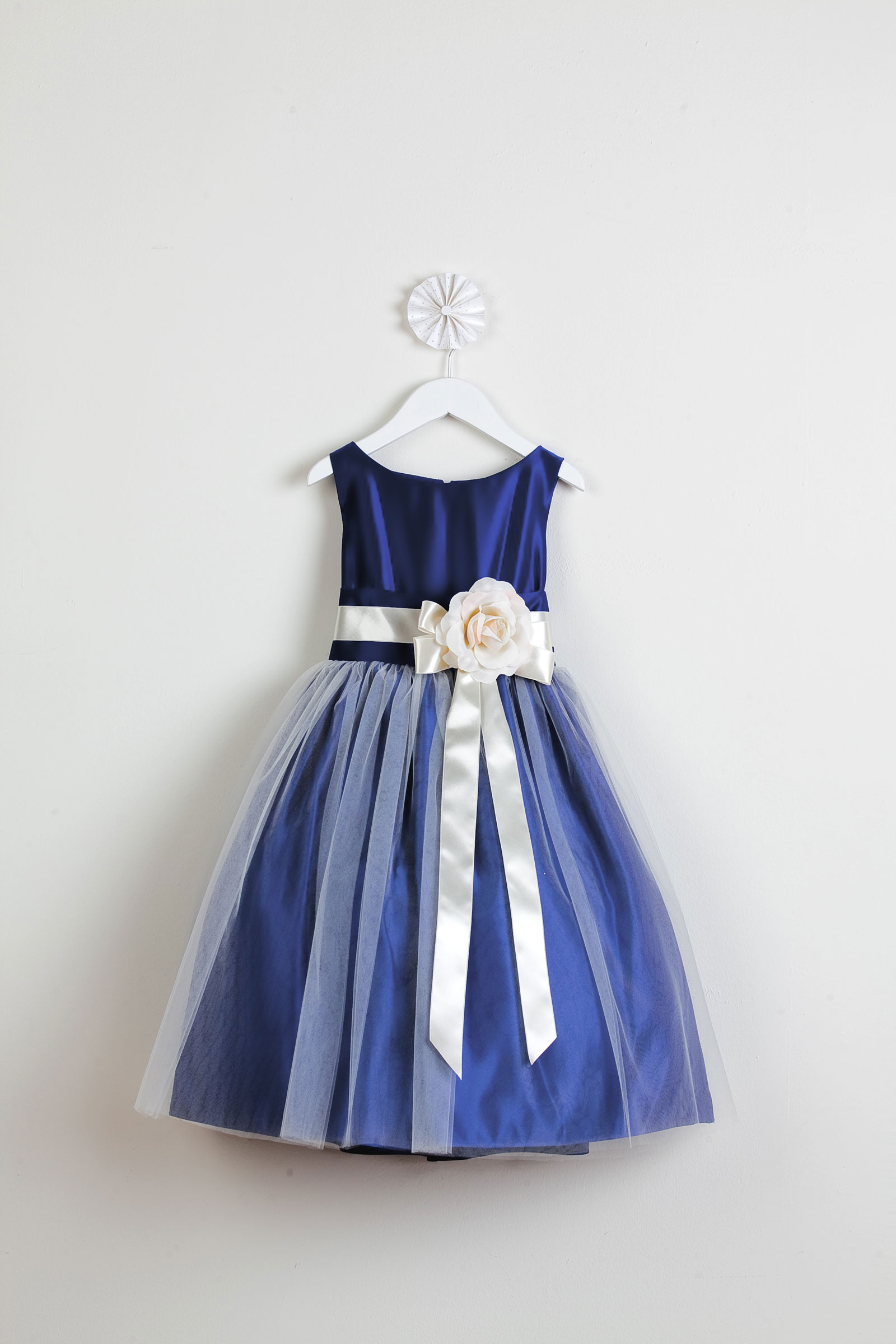 Girls Dress Style 402- Sleeveless Satin And
