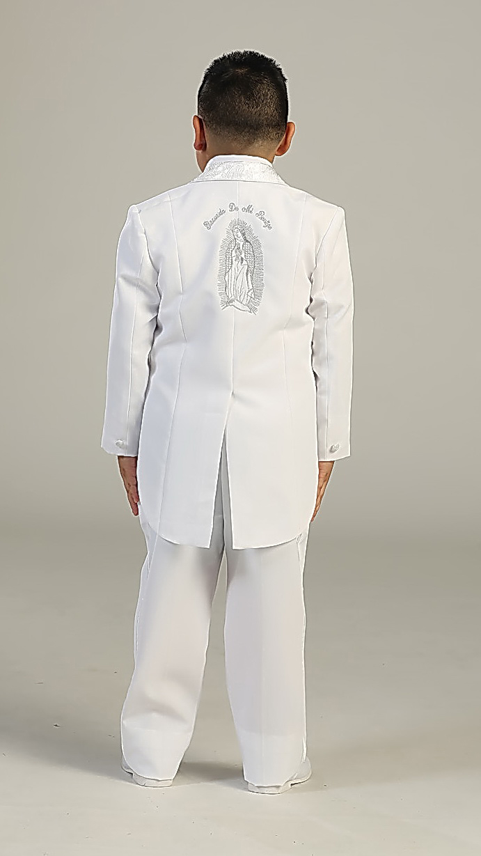 Tt 4004 Boys Suit Style 4004 White 5 Piece Communion