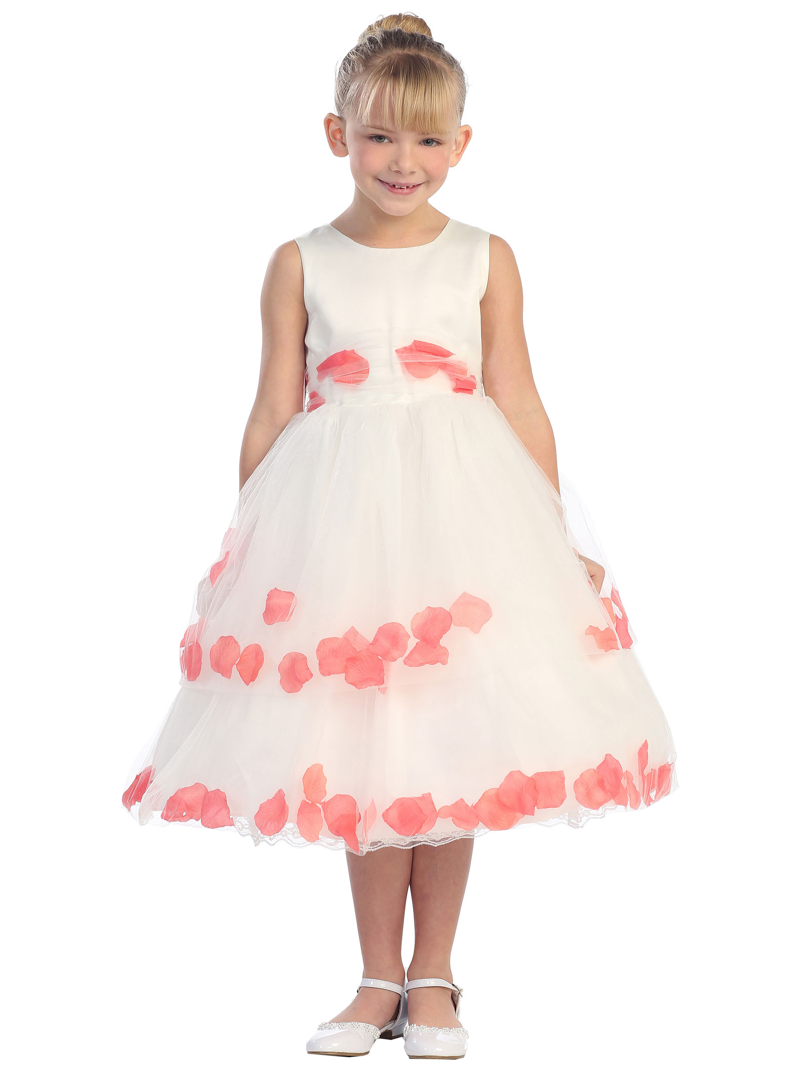 Girls Dress Style 5251- Sleeveless Satin And