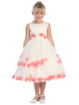 Corals Peaches Oranges - Flower Girl Dresses - Flower Girl Dress ...
