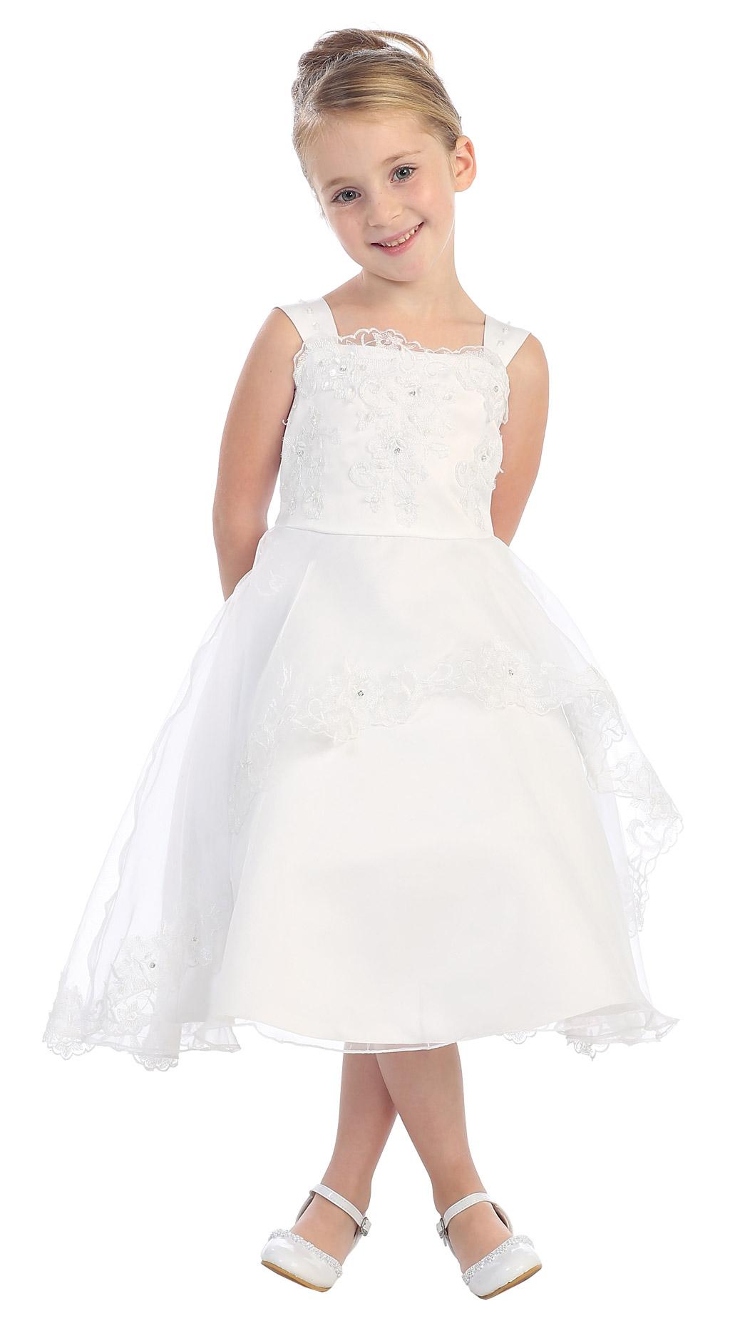 Tt 5552w Girls Dress Style 5552 Choice Of White Or