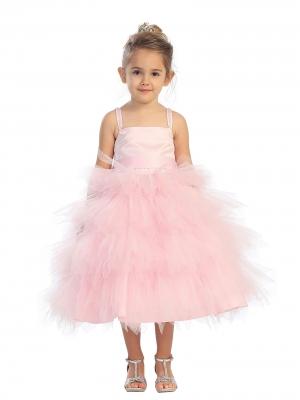 PINK FLOWER GIRL DRESSES - Sanmaz Kones