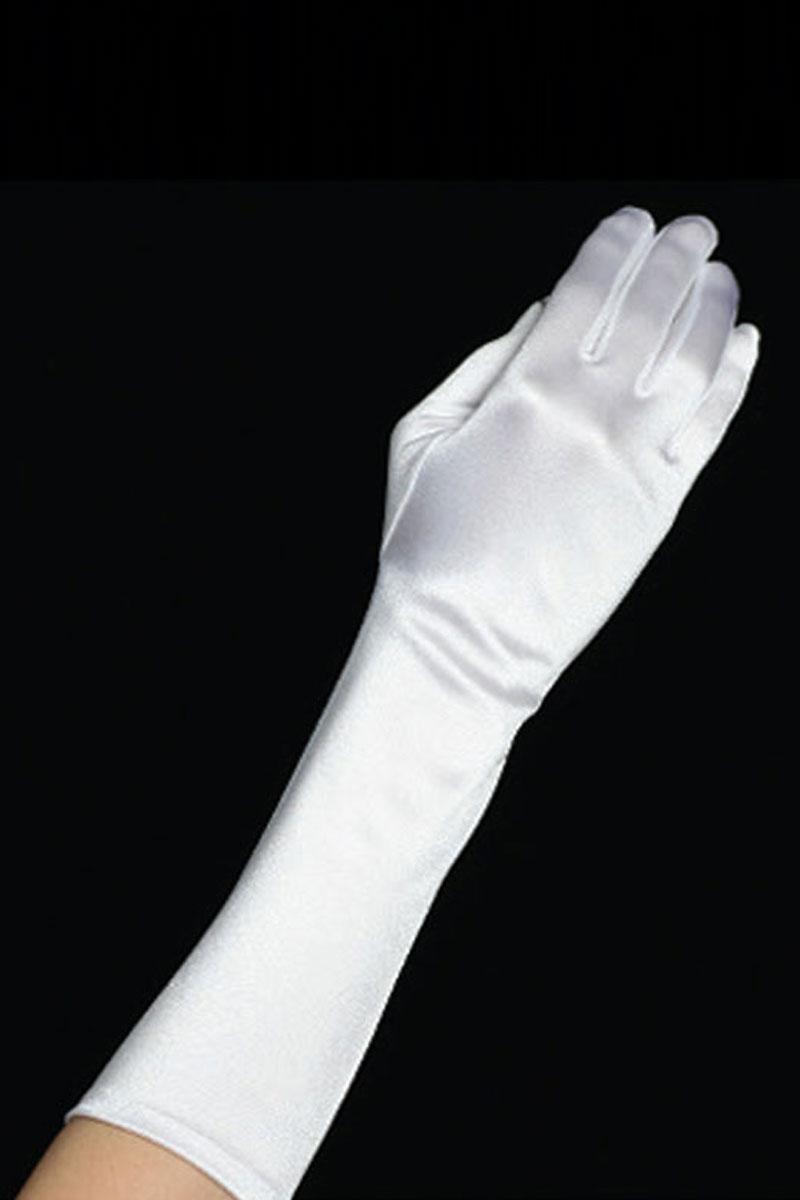 Satin Long Gloves For Girls Flower Girl Dress For Less