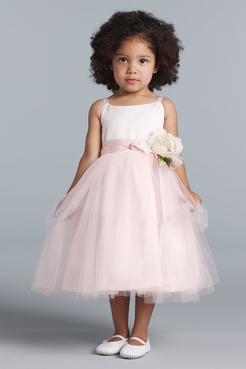 Blush Pink Flower Girl Dresses Sanmaz Kones